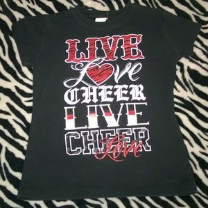 Other - Girl's size Large (10/12) Live Love Cheer t-shirt